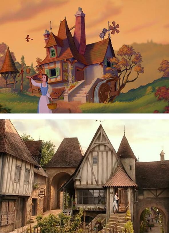 La belle et la b te le film sera fid le au dessin anim images f noweb - Dessin de belle maison ...