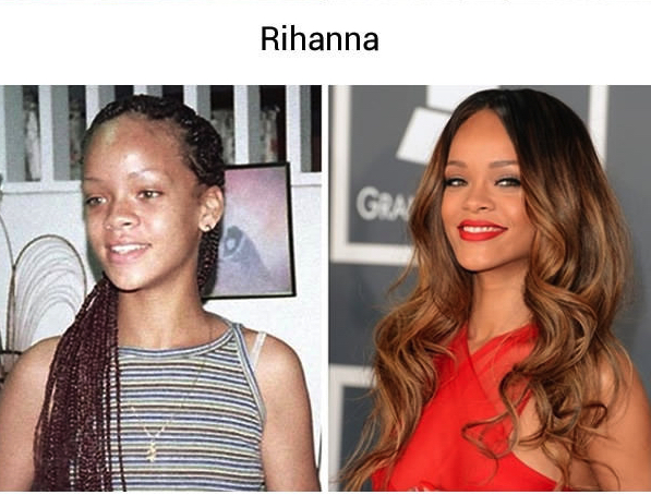 27 photos de stars avant qu 39 elles ne deviennent c l bres f noweb - Rihanna avant apres ...