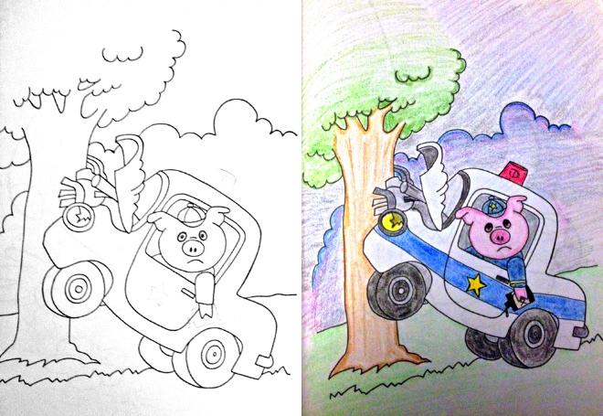 Lart De Detourner Un Cahier De Coloriages Pour Enfants En