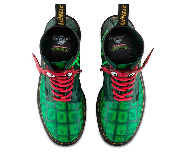 Dr. Martens crée les chaussures Tortues Ninja pour les fans