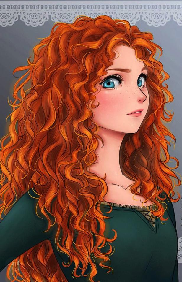 Si les princesses disney taient dessin es fa on manga - Image de princesse disney ...