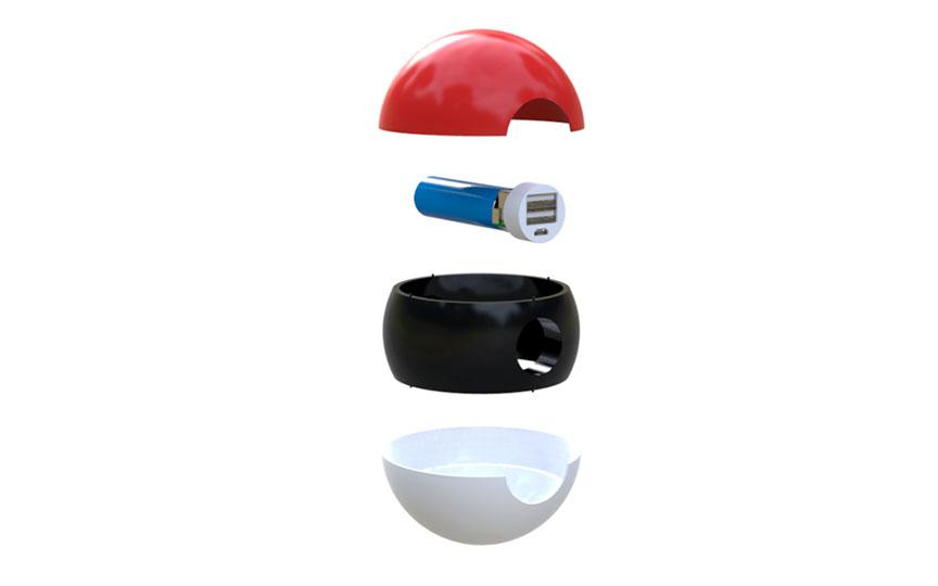 un chargeur pok ball pour ne plus tomber en panne de batterie pendant votre chasse pok mon go. Black Bedroom Furniture Sets. Home Design Ideas