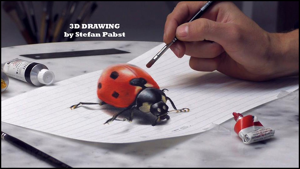 Un artiste r alise d 39 incroyable dessin en 3d f noweb for Dessin 3d