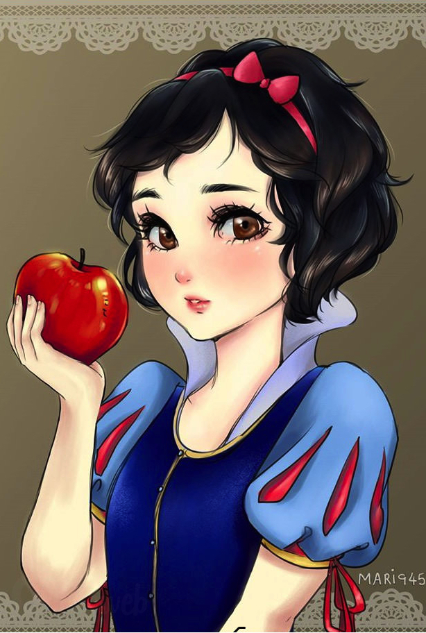 Si les princesses disney taient dessin es fa on manga f noweb - Image de princesse ...