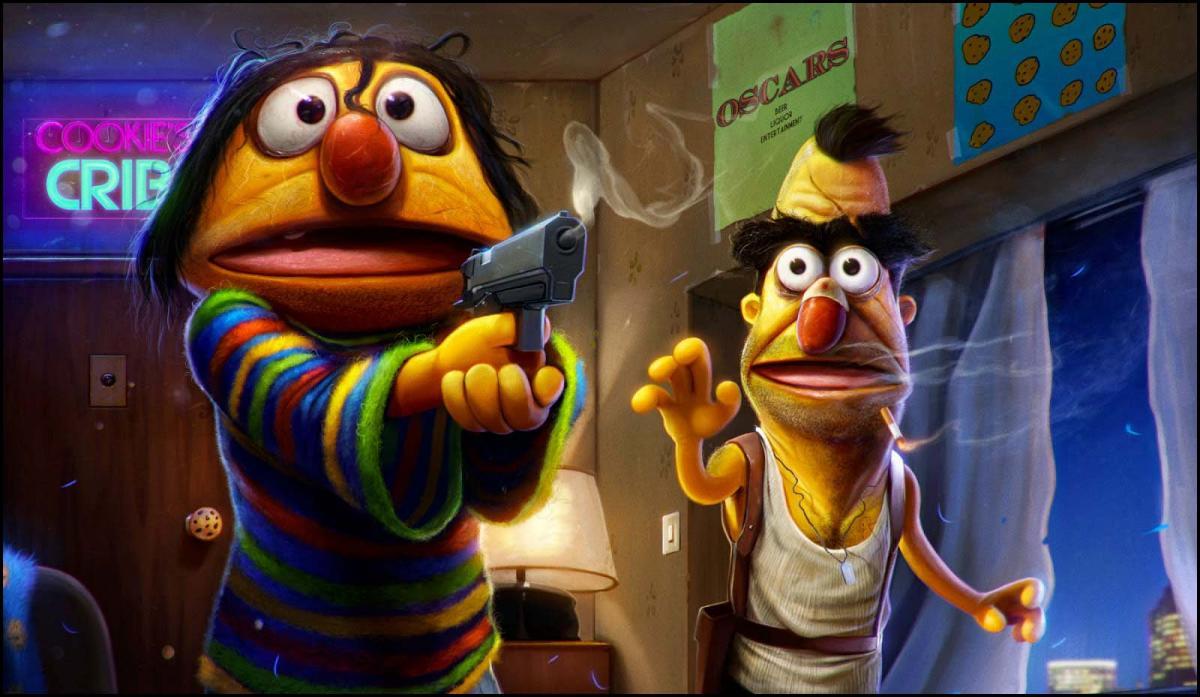 Sesame Street Funny further A2VybWl0IHRoZSBmcm9n moreover Watch as well Des Personnages De Dessins Animes Reproduit En Psychopathes further Item 98293. on sesame street bert meme