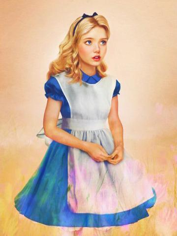 Quoi ressemblerait les princesses disney dans la vraie for Alice dans le miroir balthus