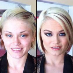 L'incroyable transformation des actrices X avant / aprés maquillage