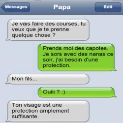 Les perles des SMS parents / enfants