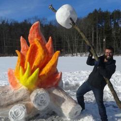 20 sculptures de neige incroyables