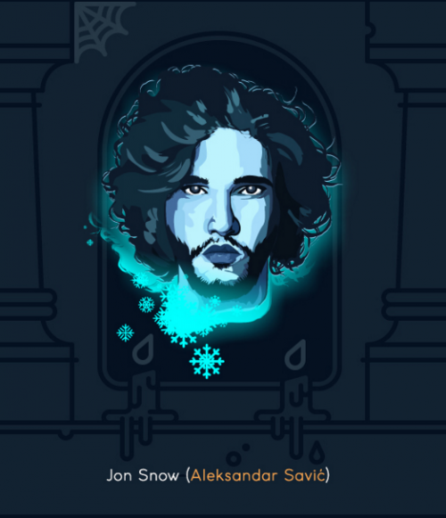 Les personnages de Game of Thrones fait par 30 dessinateurs