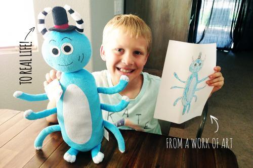 Le site qui transforme les dessins de vos enfants en peluche