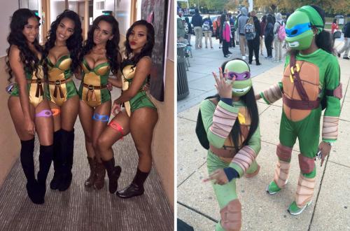 Pour Halloween, il existe deux types de filles