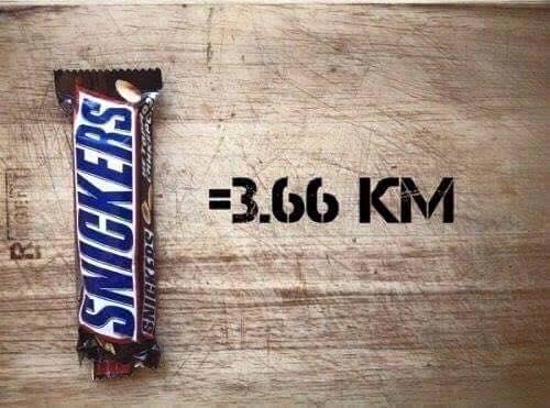 La distance que vous devrez courir pour éliminer ces aliments