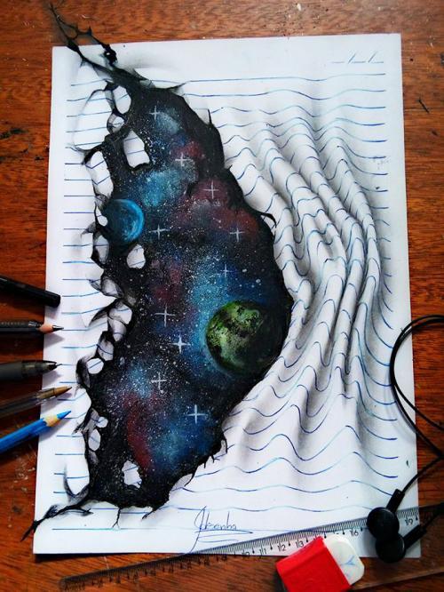 Un jeune de 16 ans dessine des oeuvres en 3D époustouflantes