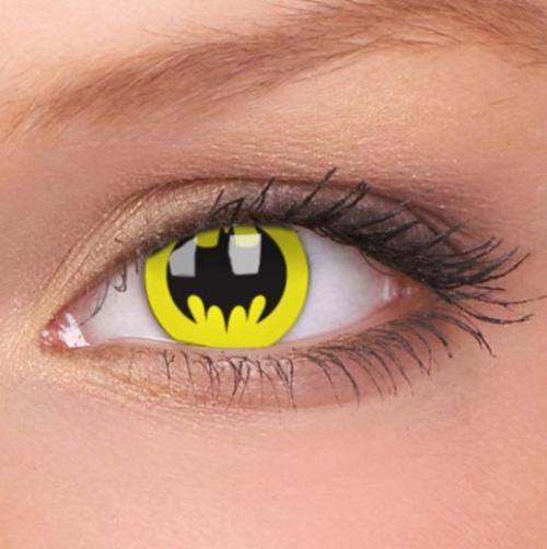 Amazing geek contact lenses! (Batman, Twilight, Naruto)