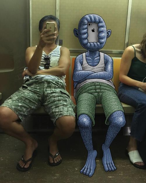 Les créations de l'artriste Ben Rubin dans le métro