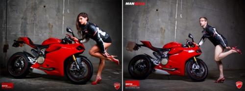 Quand de vrais passionnés de motos imitent les calendriers Bimbo
