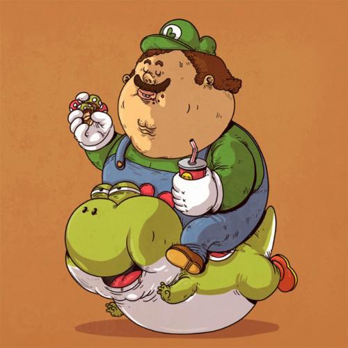 Si les personnages de la pop culture étaient obèses