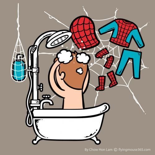 Les personnages de pop culture dans leur bain