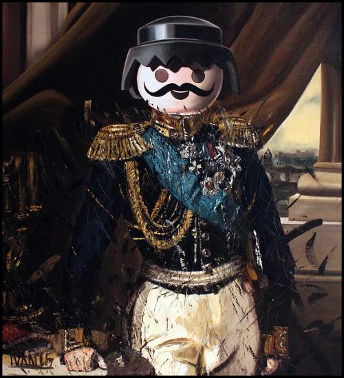 Un peintre recrée des tableaux de personnages historiques avec des Playmobil
