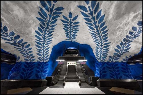 Les magnifiques stations de métro de Stockholm