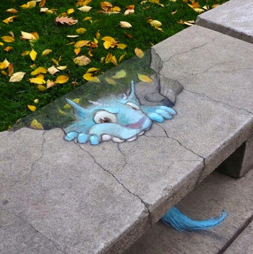 Les créatures fantastiques du street-art de David Zinn